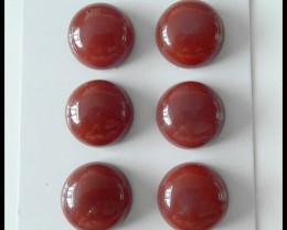 6 PCS Natural Red Agate Gemstone Cabochons,83Ct