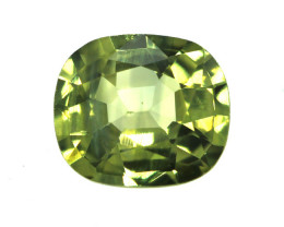 0.61cts Natural Australian Yellow Parti Sapphire Cushion Cut