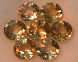 4.12 Cts Natral Color Change Diaspore Round Cut 7 Pcs Parcel