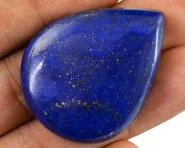 Genuine 80.35 Cts Pear Shaped Blue Lapis Lazuli Cab