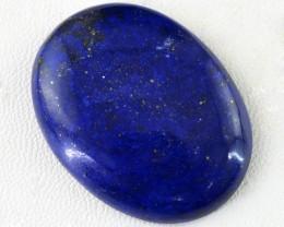 Genuine 74.45 Cts Oval Shaped Blue Lapis Lazuli Cab