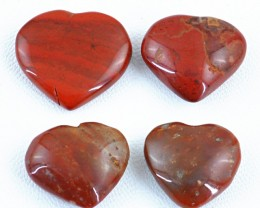 Genuine 84.50 Cts Red Jasper Heart Shaped Cab Lot