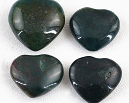 Genuine 82.50 Cts Jasper Heart Shaped Cab Lot