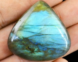 Genuine 90.65 Cts Pear Shaped Labradorite Cab