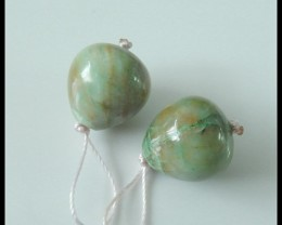 39Ct Natural Chrysocolla Earring Beads