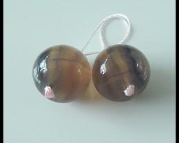 49Ct Natural Fluorite Gemstone Earring Beads