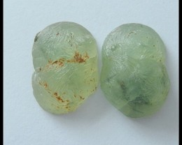 28.5Ct Natural Prehnite Gemstone Pair(C0106)