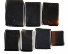 Genuine 125.35 Cts Untreated Black Onyx Cab Lot