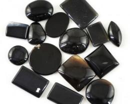 Genuine 239.80 Cts Untreated Black Onyx Cab Lot