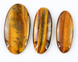 Genuine 101.60 Cts Golden Tiger Eye Cab Lot