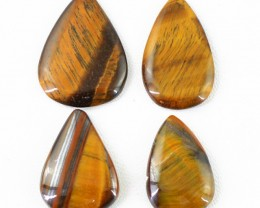 Genuine 95.84 Cts Pear Shaped Golden Tiger Eye Cab Lot