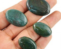 Genuine 105.55 Cts Blood Green Jasper Cab Lot