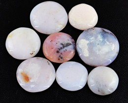 Genuine 142.05 Cts Round Shaped Pink Jasper Cab Lot