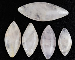 Genuine 140.35 Cts Untreated Pink Rose Quartz Cab Lot