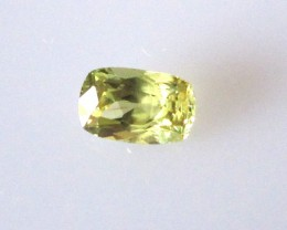 0.51cts Natural Australian Yellow Sapphire Cushion Cut
