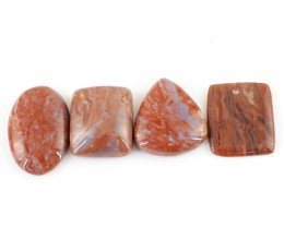 Genuine 76.45 Cts Untreated Agate Cab Lot