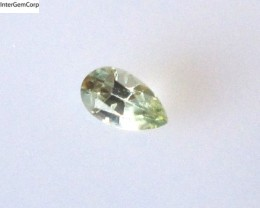 0.25cts Natural Australian Yellow Parti Sapphire Pear Cut