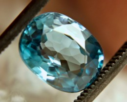 3.48 Carat VVS Blue Southeast Asian Zircon - Superb