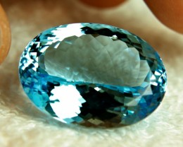 51.8 Carat IF/VVS1 Blue Brazil Topaz - Gorgeous