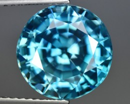 8.01 Cts Wonderful Spectacular Top Natural Blue Zircon