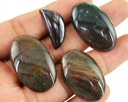Genuine 106.00 Cts Untreated Blood Green Jasper Cab Lot