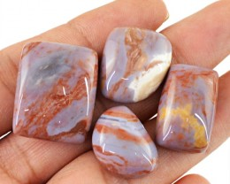 Genuine 88.60 Cts Untreated Agate Cab Lot