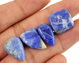 Genuine 31.50 Cts Untreated Blue Sodalite Cab Lot