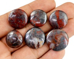 Genuine 104.95 Cts Round Shaped Jasper Cab Lot