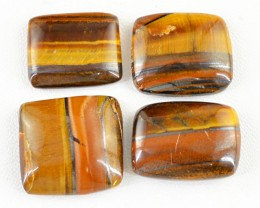 Genuine 143.05 Cts Untreated Golden Tiger Eye Cab Lot