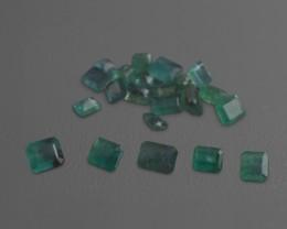 Emerald Parcel/Lot 45.7 cts 22 stones