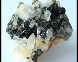 183Ct Natural Babingtonite Gemstone Druzy Cluster  Specimens