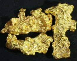 3.2 Grams  3 Kalgoorlie Gold Nugget,Australia LGN 1455