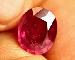 8.16 Carat Fiery Genuine Ruby - Superb