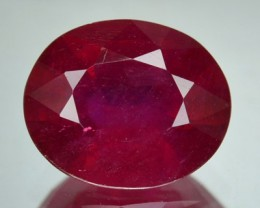 3.87 Cts Natural Blood Red Ruby Oval Cut Thailand Gem