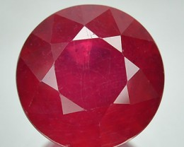 4.06 Cts Natural Red Ruby 9 mm Round Cut Thailand Gem