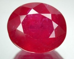 4.45 Cts Natural Blood Red Ruby Oval Cut ThailandGem