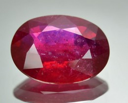 3.56 Cts Natural Blood Red Ruby Oval Cut Thailand Gem