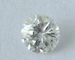NATURAL WHITE DIAMOND-3MMSIZE-O.10CTWSIZE-1PCS,NR