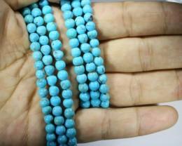 198.75 Cts three Turqupise round bead  strands PPP 715