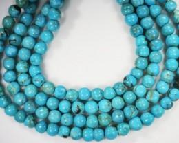140.60 Cts three Turqupise round bead  strands PPP 716