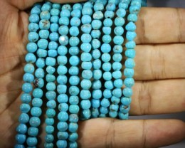 312.25 Cts Five Turqupise round bead  strands PPP 717