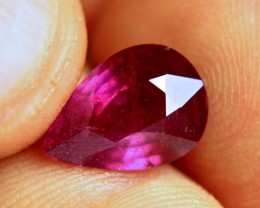 4.83 Carat Fiery Ruby Pear - Gorgeous