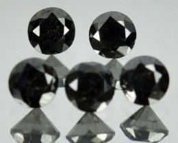 0.85 Cts Natural Black Diamond 5 Pcs Parcel Africa