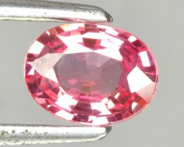 Certified 0.70 Cts Natural Orangy Pink Sapphire Oval Srilanka