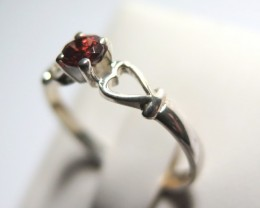 Garnet Genuine Natural Stone 925 Silver Ring