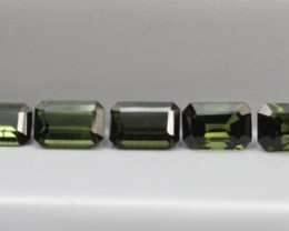 GREEN TOURMALINE EMERALD CUT PARCEL