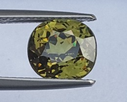 3.34cts, Demantoid Green Garnet, Certified,  VVS Eye Clean 1,  Untreated