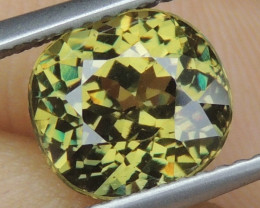 3.34cts, Demantoid Green Garnet, Certified,  VVS Eye Clean