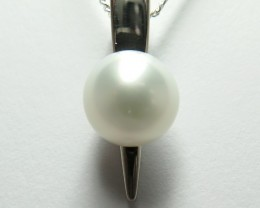 South Sea Australian AAA Pearl 18k White Gold Pendant