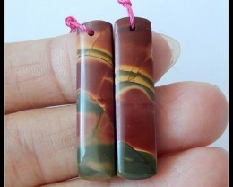 20.5Ct Natural Multi Color Picasso Jasper Earring Beads
